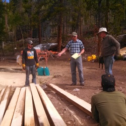 Timber Grader with Crew