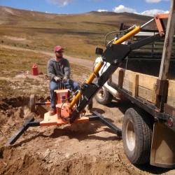 Eddie Excavating the Parking Lot