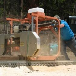 Harry Operating Sawmill 2013
