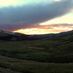 Sunset over Valley